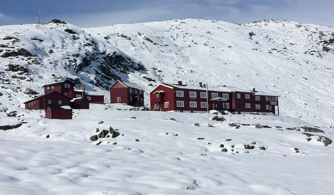Krossbu tourist cabin during winter